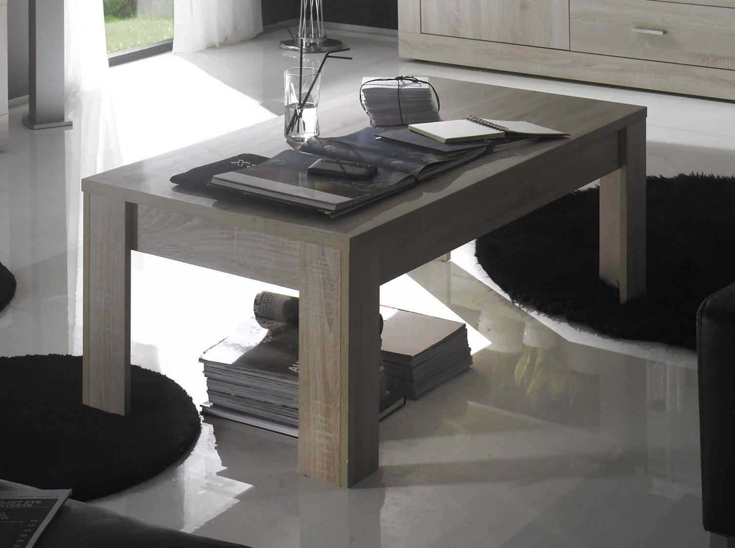 Table basse contemporaine chêne samoa Eléanore