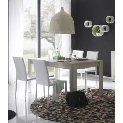 Table de salle à manger contemporaine chêne samoa Eléanore