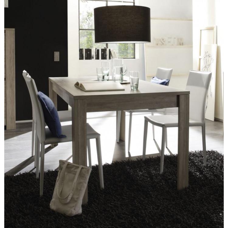 Table de salle à manger contemporaine chêne gris Jessica