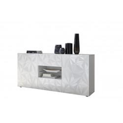 Buffet/bahut design laqué blanc sérigraphié 181 cm Andreasse