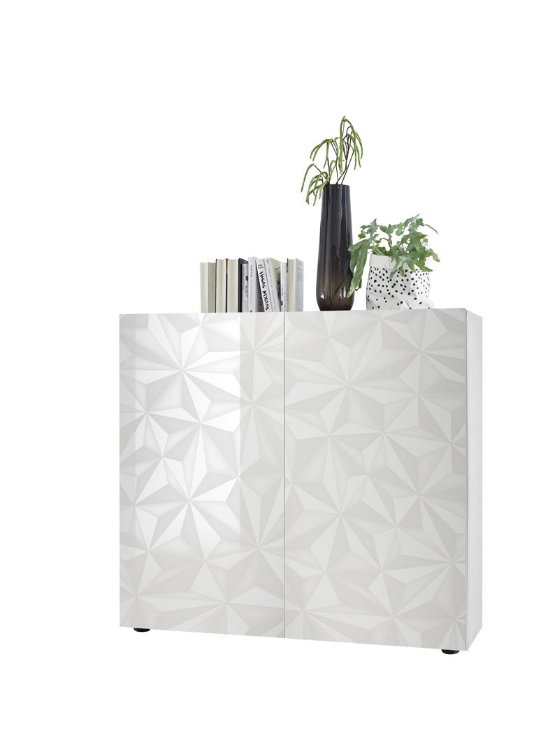 Vaisselier/argentier design laqué Andreasse