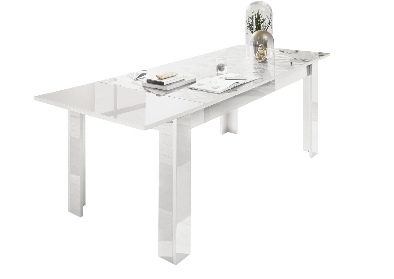 Table de salle à manger extensible design laqué Andreasse