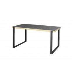 Table de salle à manger industrielle noir mat/béton Magnolia