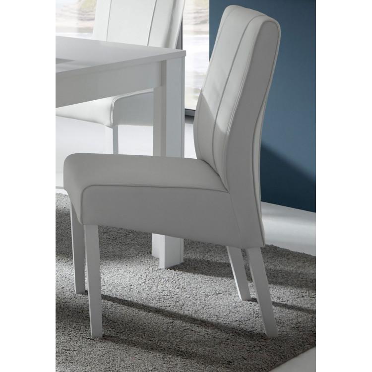 Chaise de salle à manger moderne en PU (lot de 2) Paoline