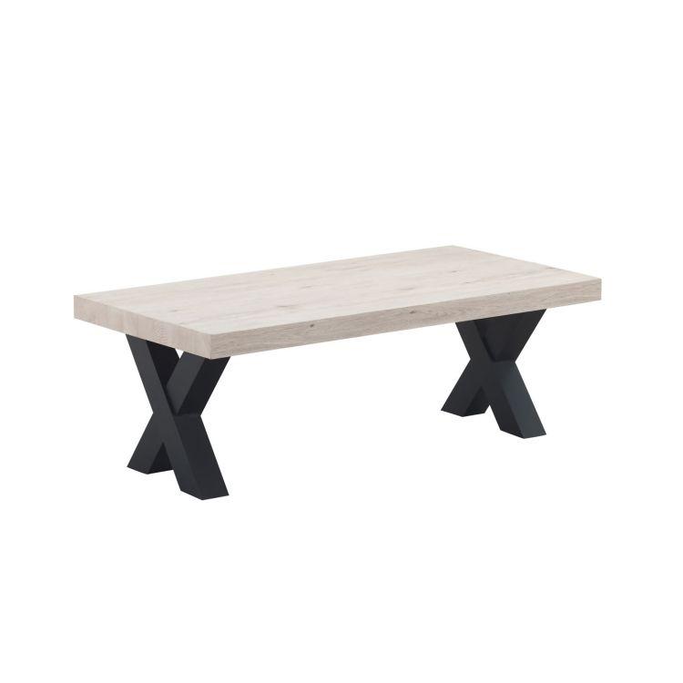 Table basse contemporaine chêne clair Dorine