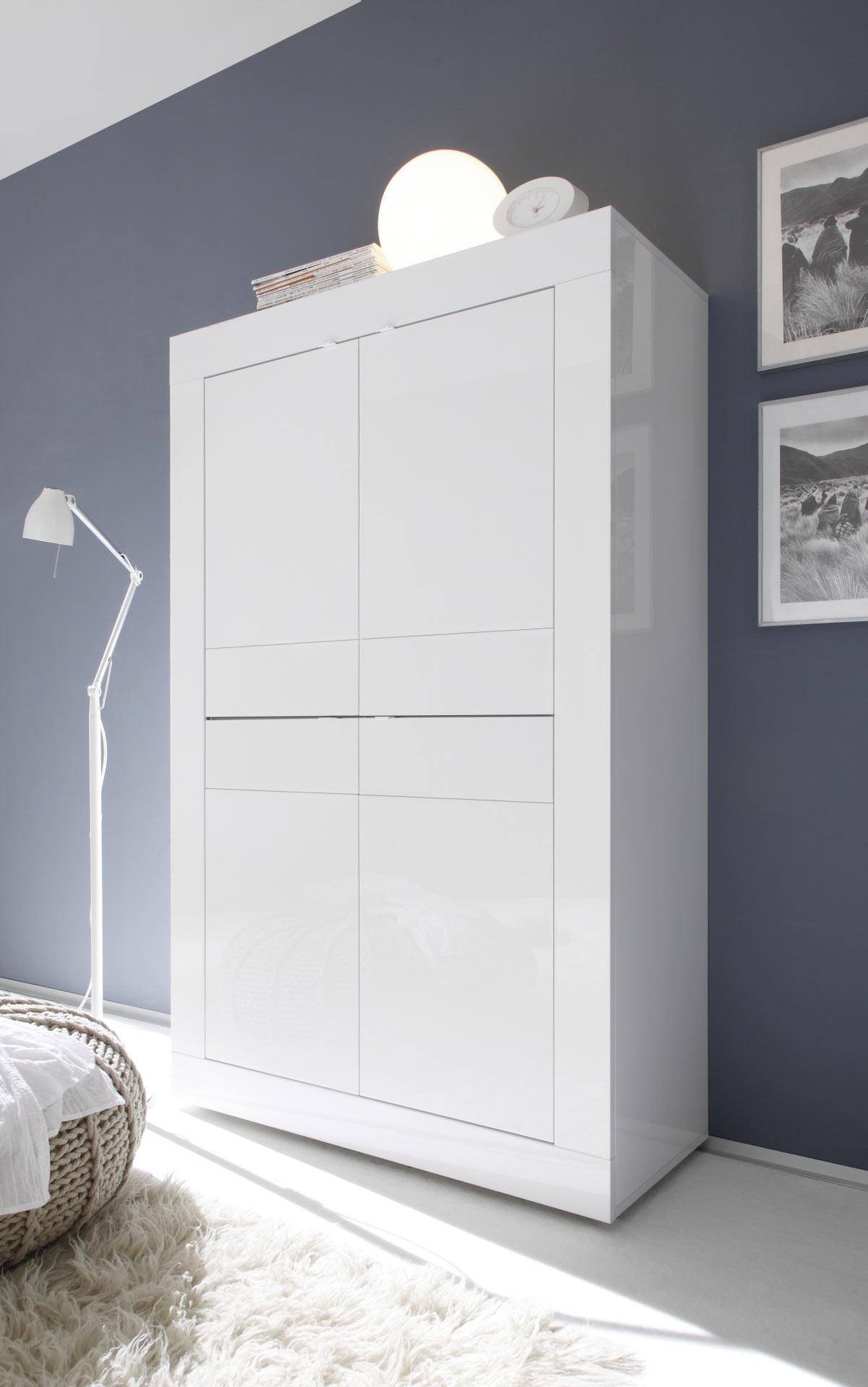 Vaisselier/argentier moderne blanc Agathe I