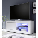 Meuble TV moderne 140 cm blanc Agathe