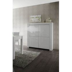 Vaisselier/argentier design laqué blanc Twist