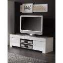 Meuble TV design laqué blanc Twist