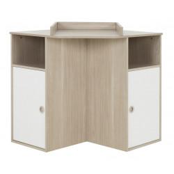 Table à langer d'angle contemporaine chêne/blanc Jesabel