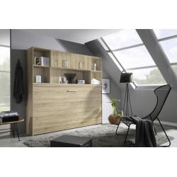 Lit armoire avec rangement contemporain Alberto
