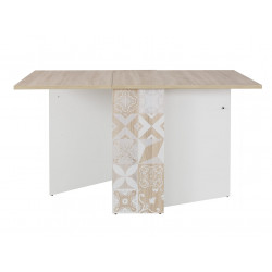 Table pliante scandinave chêne/blanc Viola