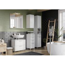 Ensemble de salle de bain moderne blanc Yvana