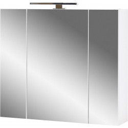 Armoire de toilette moderne blanche Yvana