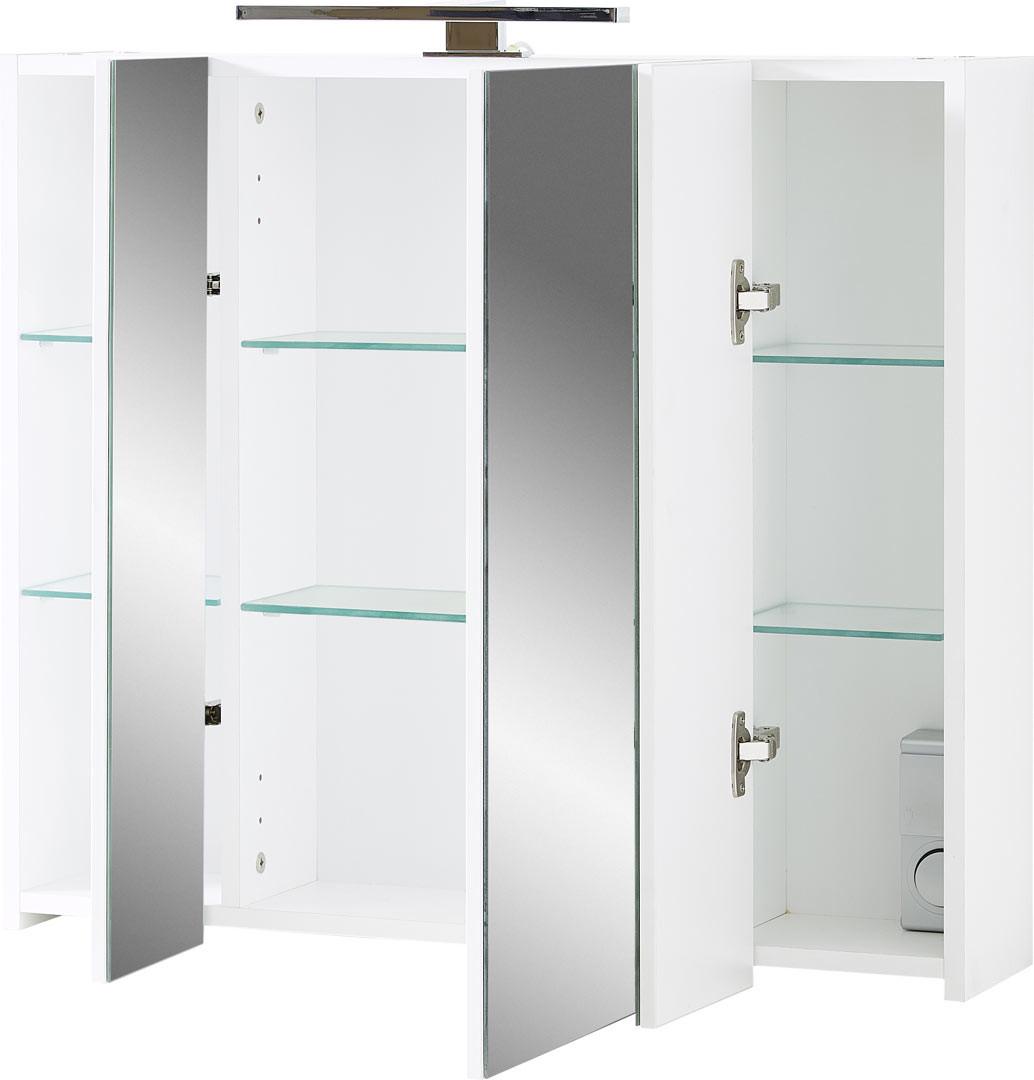 Armoire de toilette moderne blanche Yvana - Matelpro
