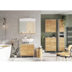 Ensemble de salle de bain moderne chêne/blanc Vegas