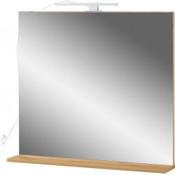 Miroir de salle de bain chêne clair Vegas
