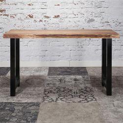 Table de bar industrielle en bois massif Oliver I