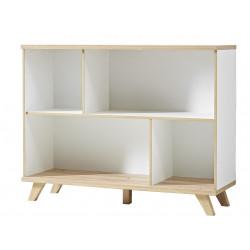 Bibliothèque scandinave chêne/blanc Losana