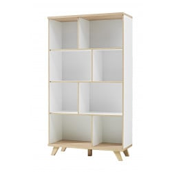 Bibliothèque scandinave chêne/blanc Losana II