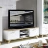 Meuble TV scandinave chêne/blanc Losana
