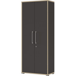 Armoire de bureau contemporaine anthracite hauteur 182 cm Garland