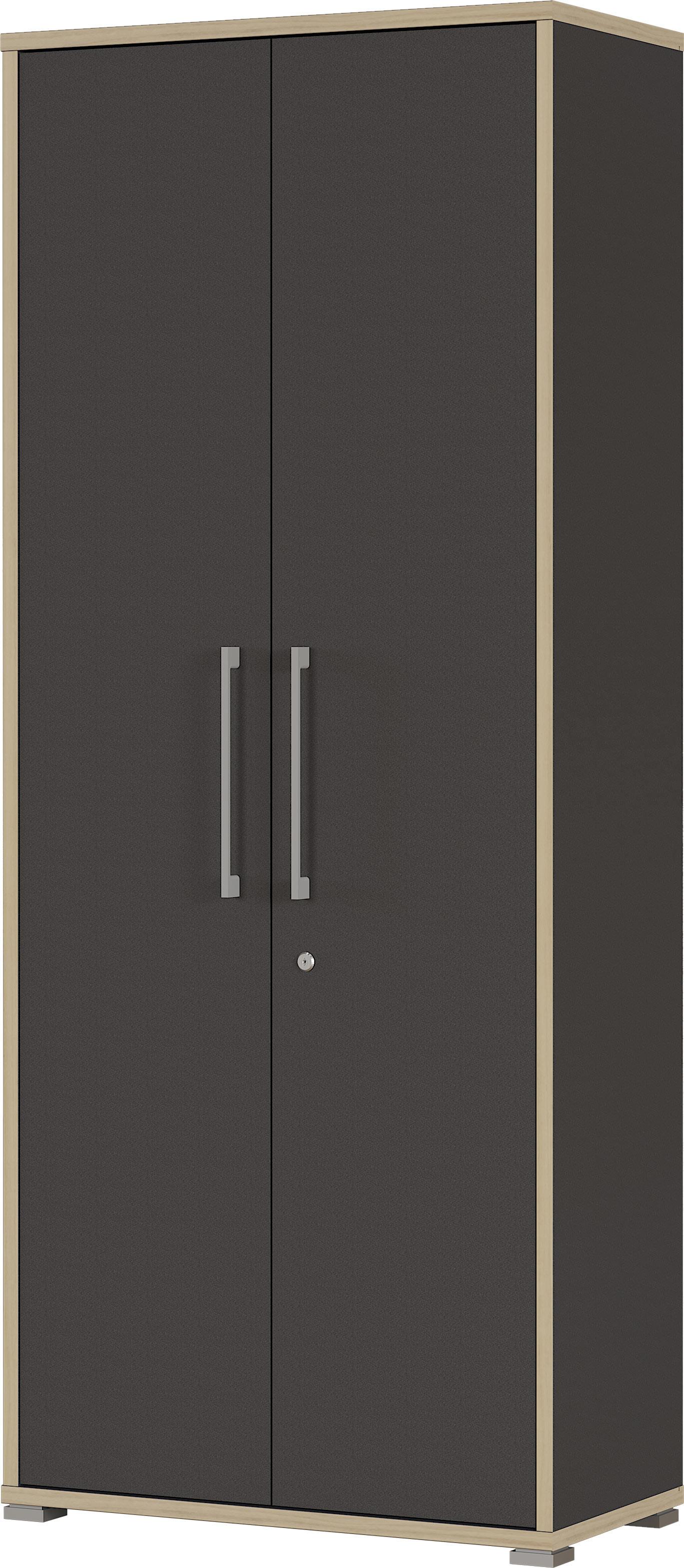 Armoire de bureau contemporaine anthracite hauteur 182 cm Garland