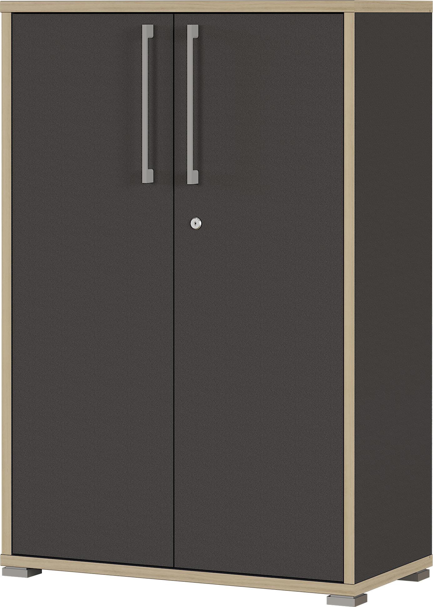 Armoire de bureau contemporaine anthracite hauteur 112 cm Garland