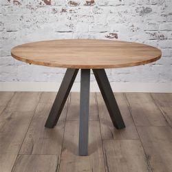 Table de salle à manger ronde en bois massif Umea