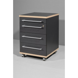Caisson de bureau contemporain anthracite Garland
