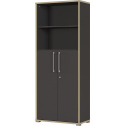 Armoire de bureau combinée contemporaine anthracite Garland