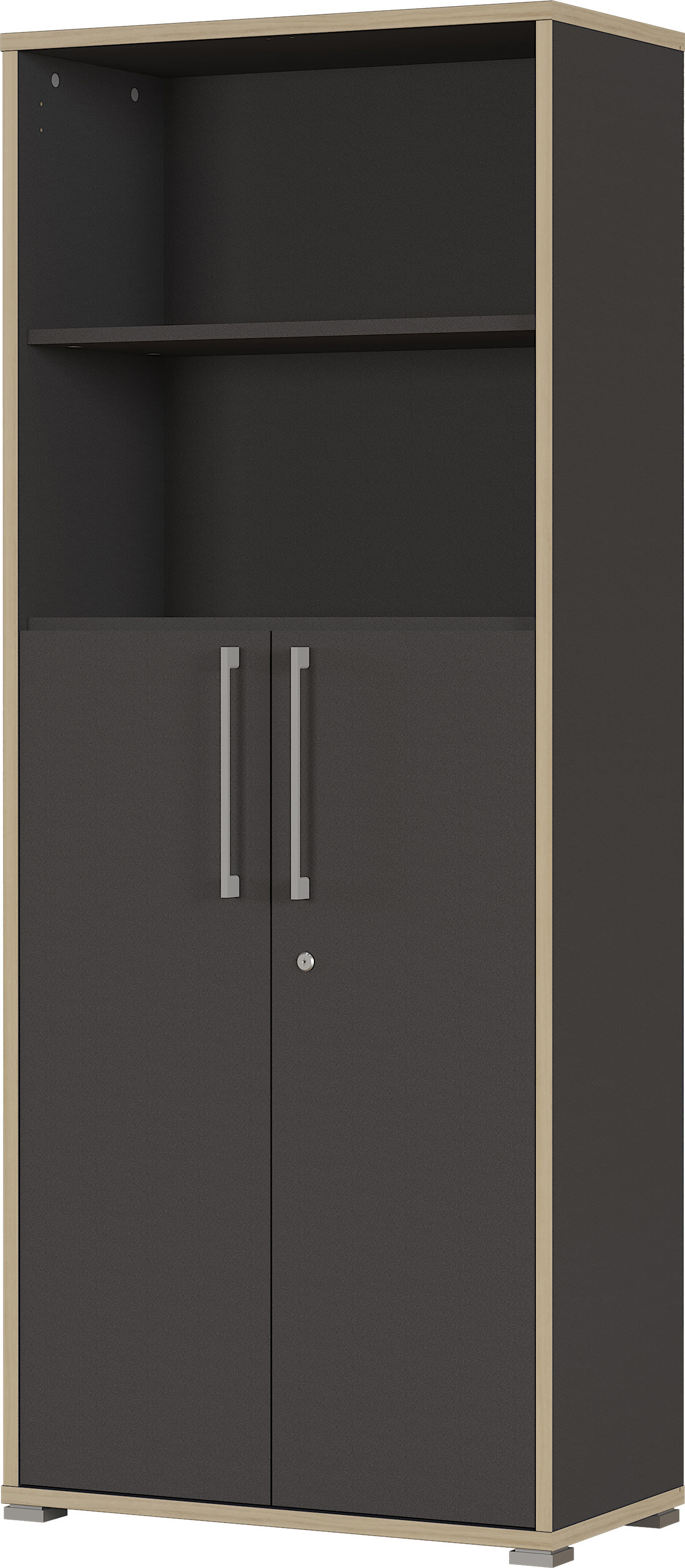 Armoire de bureau combinée contemporaine anthracite Garland