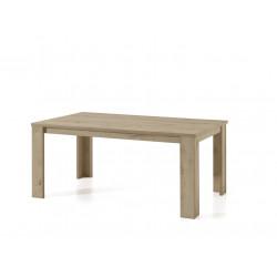 Table de salle à manger contemporaine chêne/gris marbré Enzo
