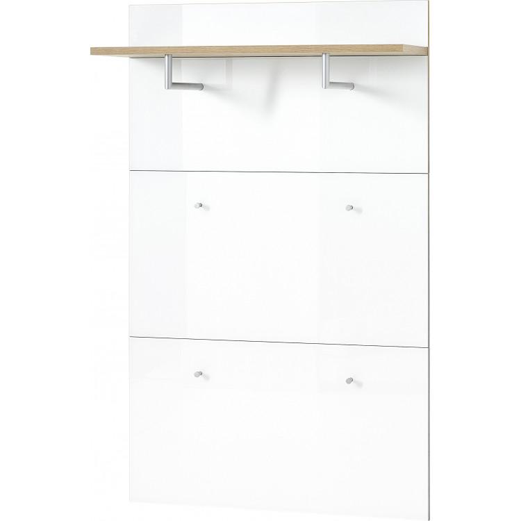 Vestiaire ouvert moderne 89 cm blanc/chêne Omaha