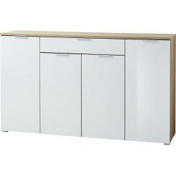 Buffet/bahut moderne 178 cm blanc/chêne Omaha