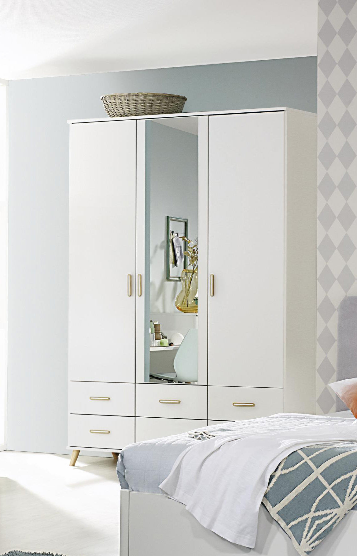 Armoire scandinave 137 cm blanche Annick