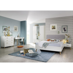 Chambre adulte scandinave blanche Annick