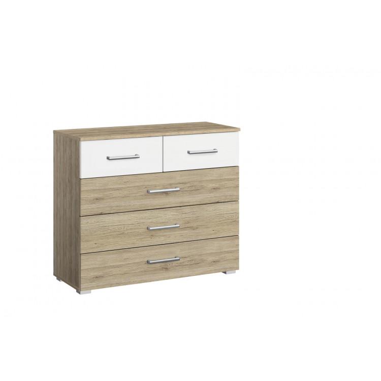 Commode contemporaine 5 tiroirs Marcia