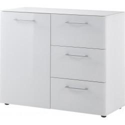Meuble de rangement moderne blanc Pascaline