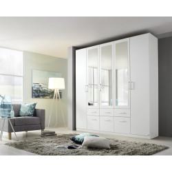 Armoire contemporaine 226 cm blanche Alban