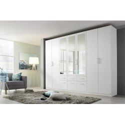 Armoire contemporaine 315 cm blanche Alban