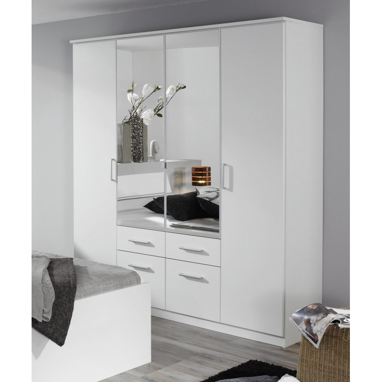 Armoire adulte moderne 181 cm blanche Apollina
