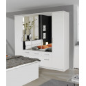 Armoire adulte moderne 226 cm blanche Apollina