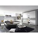 Chambre adulte contemporaine blanc/gris béton Kigali