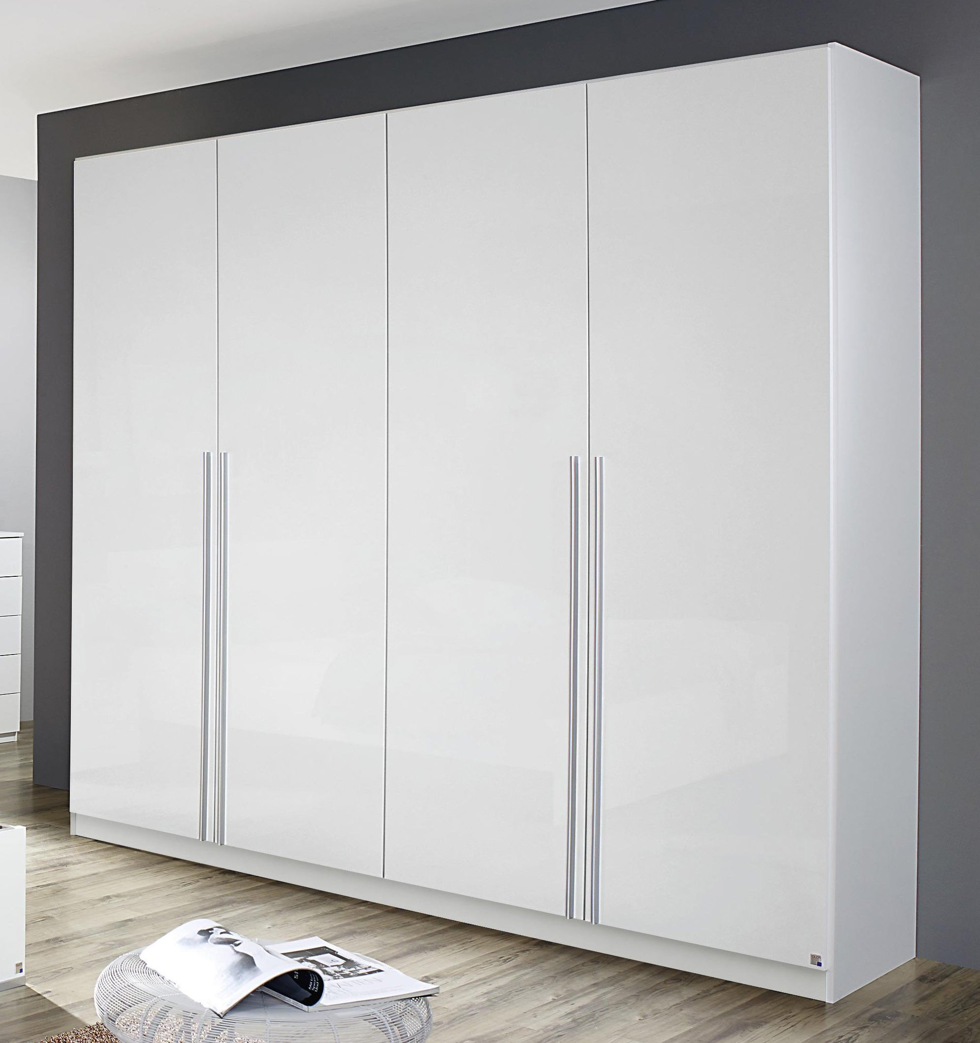 Armoire contemporaine 226 cm blanche Laurana