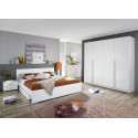 Chambre adulte contemporaine blanche Laurana