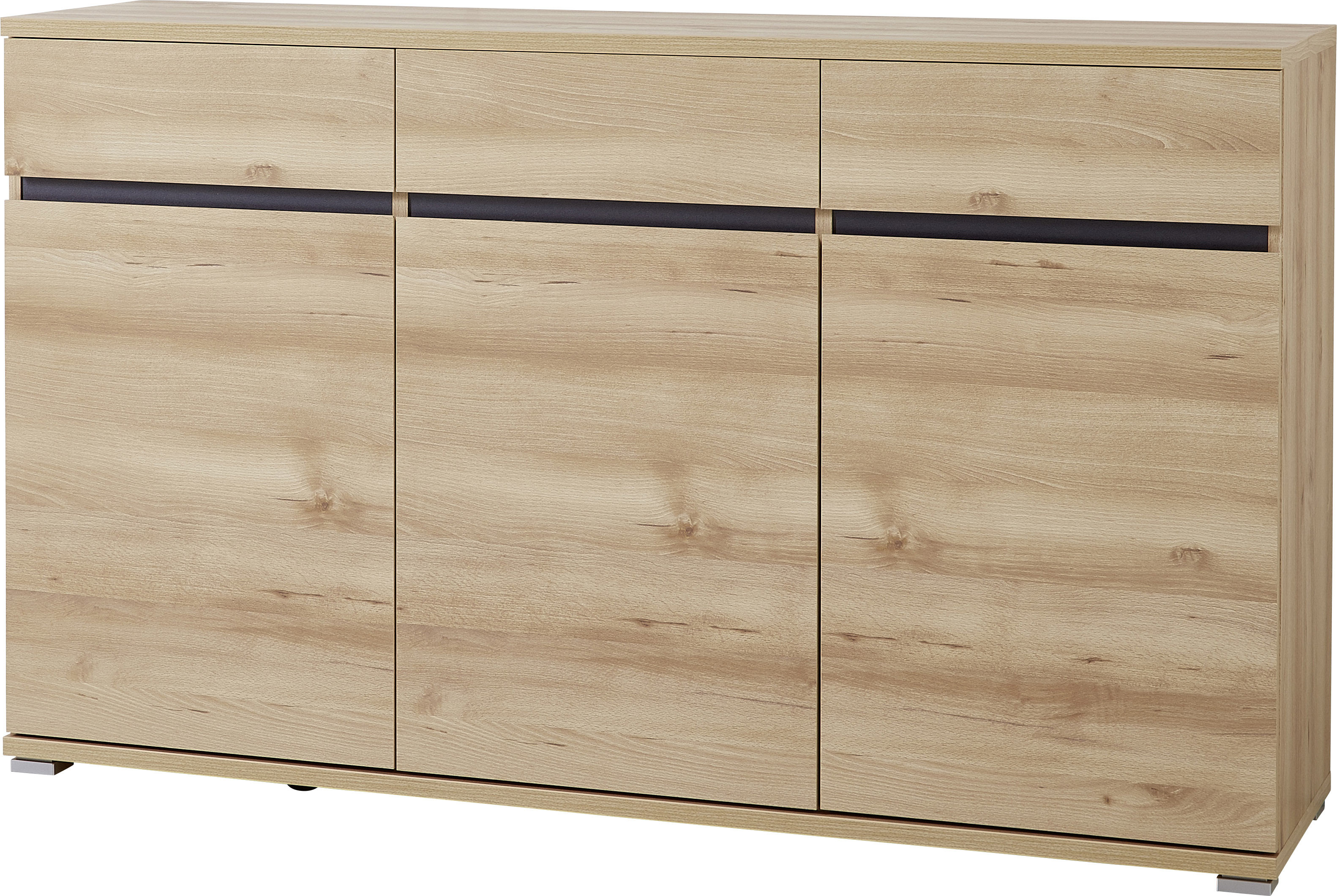 Buffet/bahut contemporain 144 cm coloris hêtre Yanice
