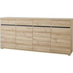 Buffet/bahut contemporain 192 cm coloris hêtre Yanice