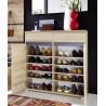 Meuble à chaussures contemporain coloris hêtre Yanice