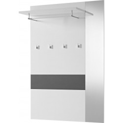 Vestiaire ouvert moderne blanc/anthracite Brice